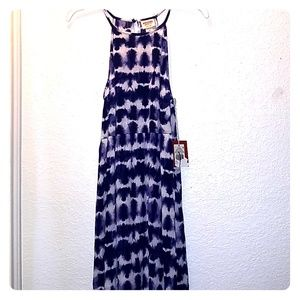 Blue and white tie dye Mossimo dress